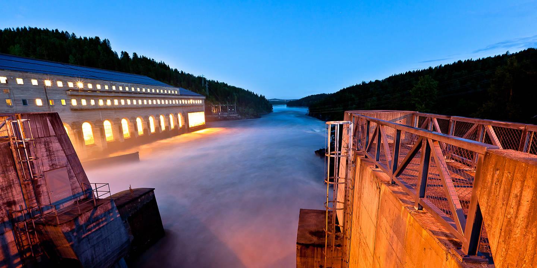 Solbergfoss om natten.Foto Tormod Hanstad
